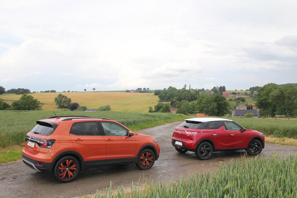 DS 3 Crossback vs Volkswagen T-Cross: van de stad tot de buiten