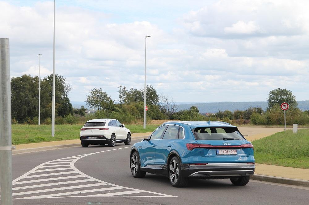 Mercedes EQC 400 vs Audi e-tron 55: duel onder hoogspanning