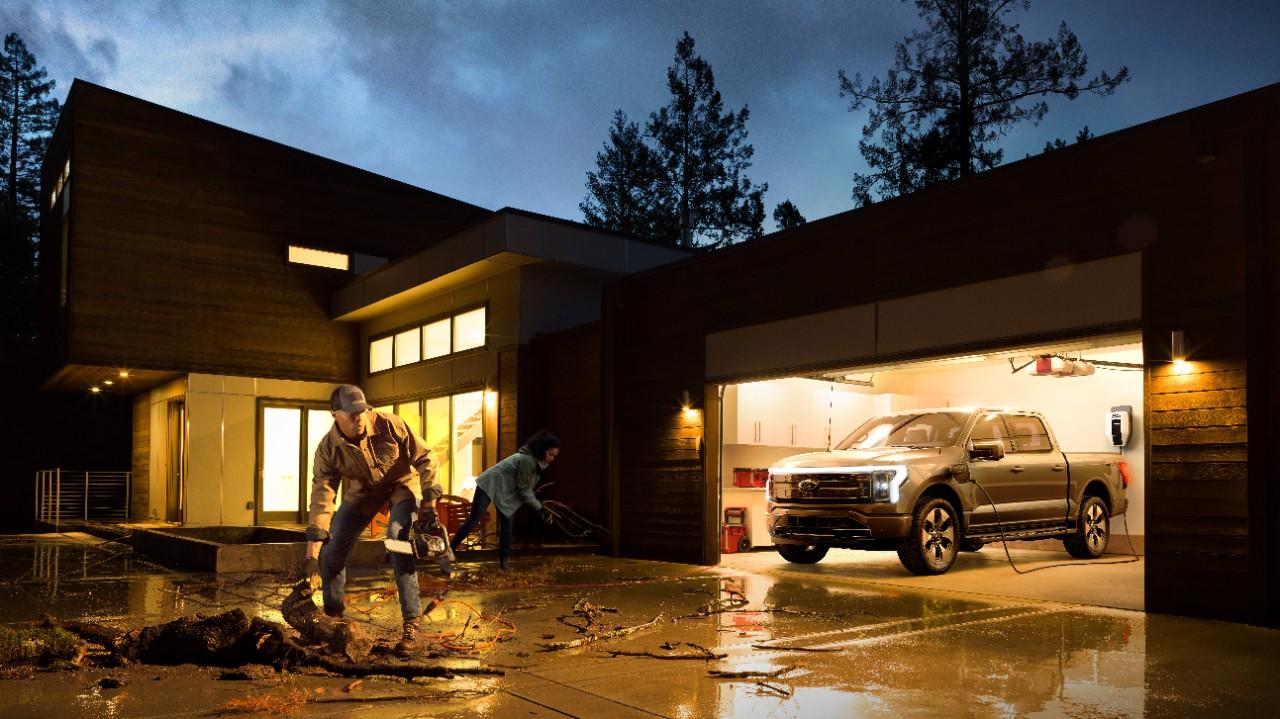 Ford F-150 Lightning: elektrisch symbool