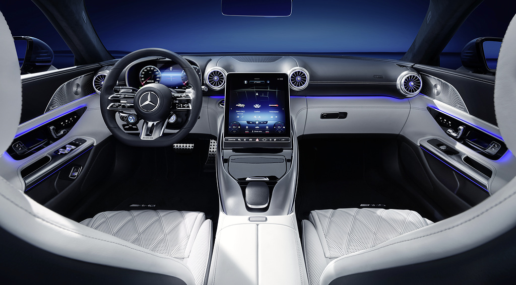 Mercedes-AMG SL : « hyperanalogique » et 2+2