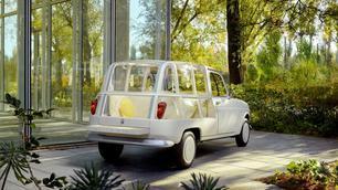 """Een Renault 4L als """"openluchtkamer"""""""
