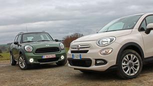 Fiat 500X vs Mini Countryman: veldmuizen