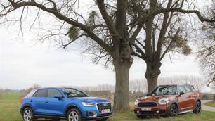 Audi Q2 1.4 TFSI vs Mini Countryman Cooper: de juiste setting