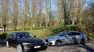 BMW 520d vs Jaguar XF 20d: de omgekeerde wereld?