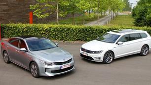 Kia Optima PHEV vs Volkswagen Passat GTE: op alle fronten!