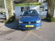 Volkswagen Touran 1.6 TDi-115 CV DSG 07/17 -bleu metal- airco/GPS